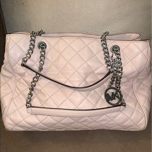 Michael Kors Baby Pink Quilt Purse